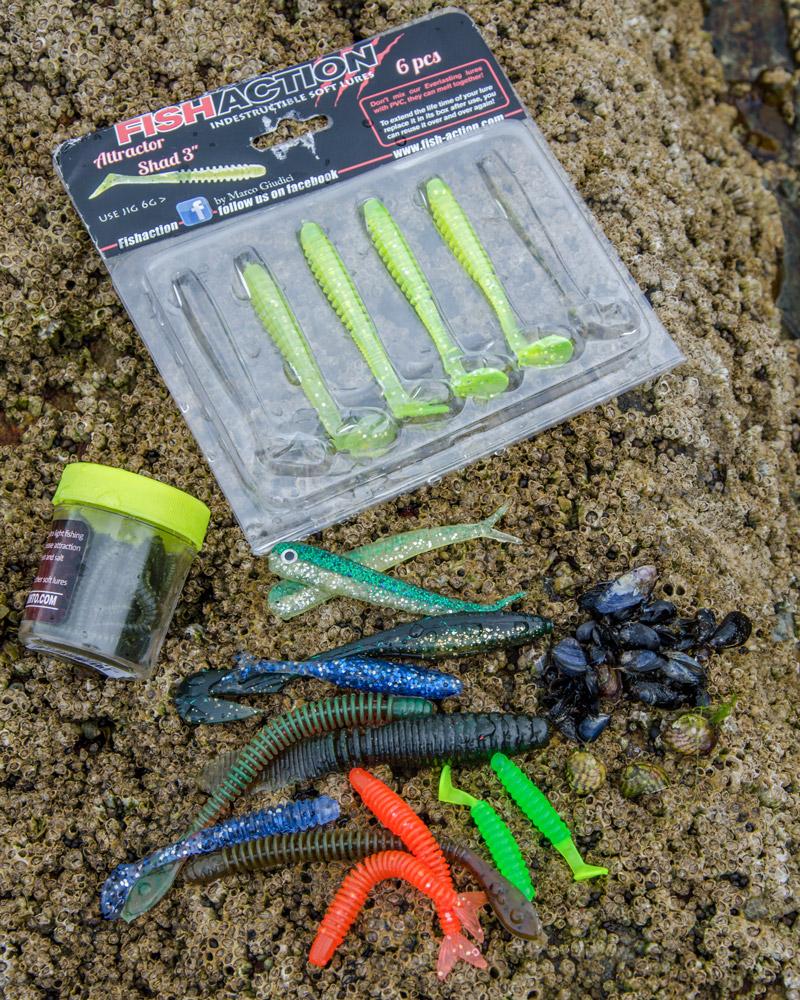 New Dozen Lures Plastic Fish Super Fluke Soft Bait Shad Flesh Colored