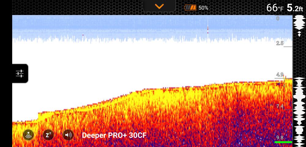 Deeper PRo+ detailed mode